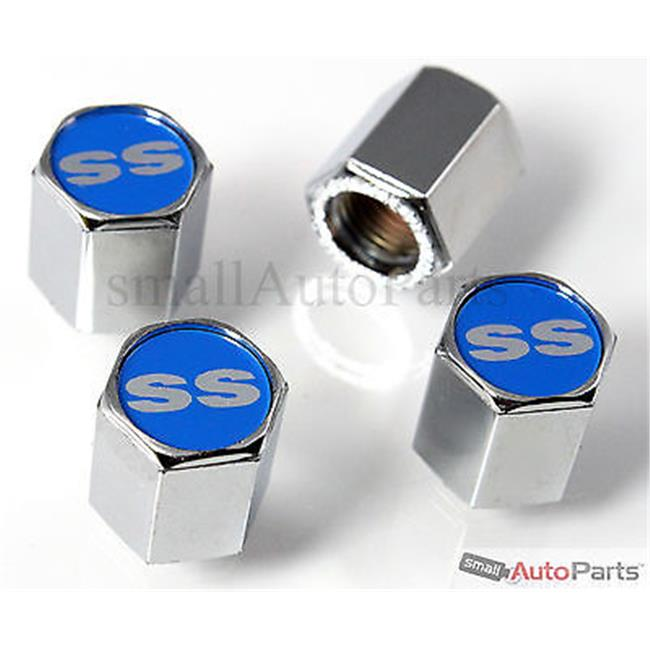 Logo Caps Ss Blue Logo Chrome Abs Tire Valve Stem Caps Walmart Com