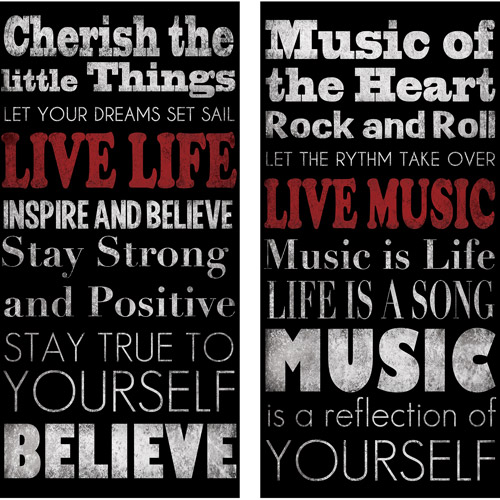 Live Life, Live Music, Set of 2