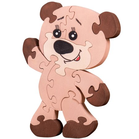 Wooden Jigsaw Puzzle For Toddlers Kids Childrens Baby 2 3 4 5 Years Old Preschool Educational Handmade Toys Teddy