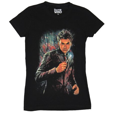 Doctor Who Girls Juniors T-Shirt - David Tenet Doctor Made of Many -