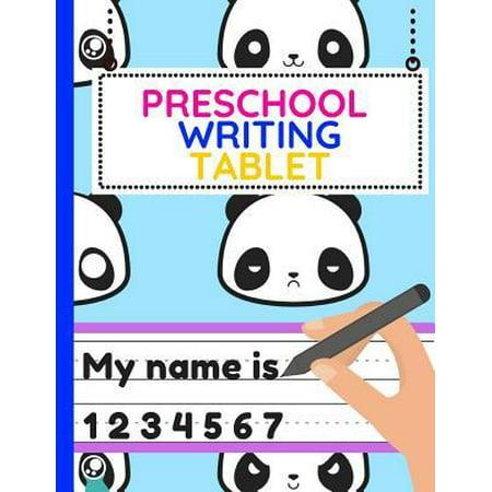 School Writing (Preschool Writing Tablet: Workbook of Dotted Lined Handwriting Practice Paper Sheet Book for Girl, Boy, Kid, Toddler, Preschool, Kindergarten, N Paperback)