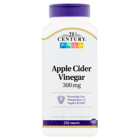 21st Century Apple Cider Vinegar Tablets, 300 mg, 250 (21st Century Apple Cider Vinegar 300 Mg)