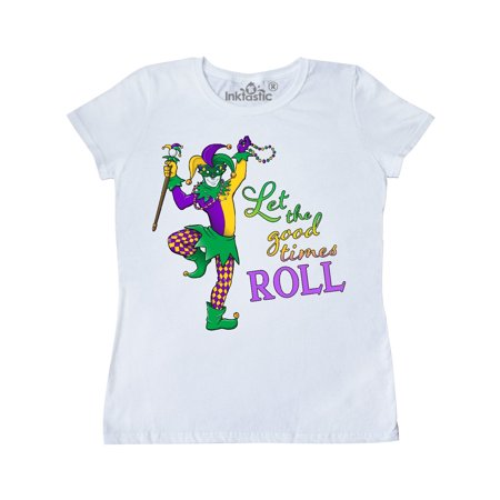 Let the Good Times Roll mardi gras jester Women's T-Shirt (Mardi Gras Costumes Plus Size)