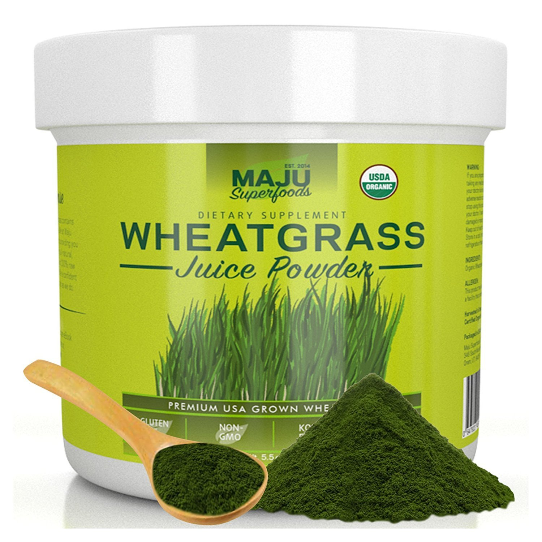 MAJU's Organic Wheatgrass Juice Powder