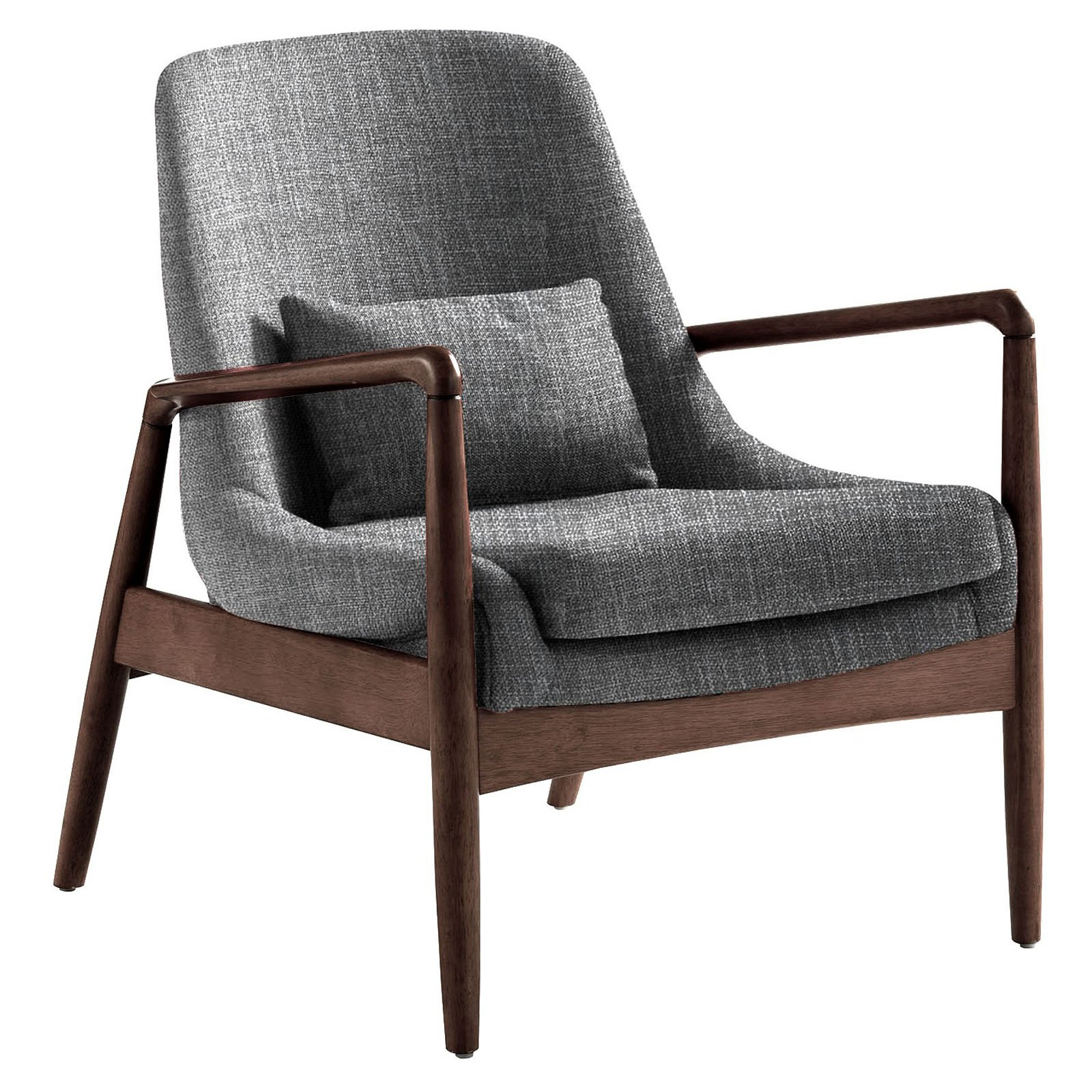 Cool Baxton Studio Carter Mid Century Modern Retro Fabric Upholstered Leisure Accent Chair In Walnut Wood Frame Multiple Colors Squirreltailoven Fun Painted Chair Ideas Images Squirreltailovenorg