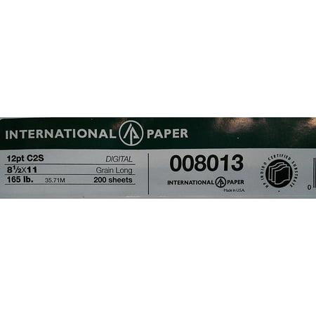 Sided Gloss Cardstock (Carolina 8.5 x 11 White Cardstock 165lb Cover 12pt Gloss C/2S 250/Pack )