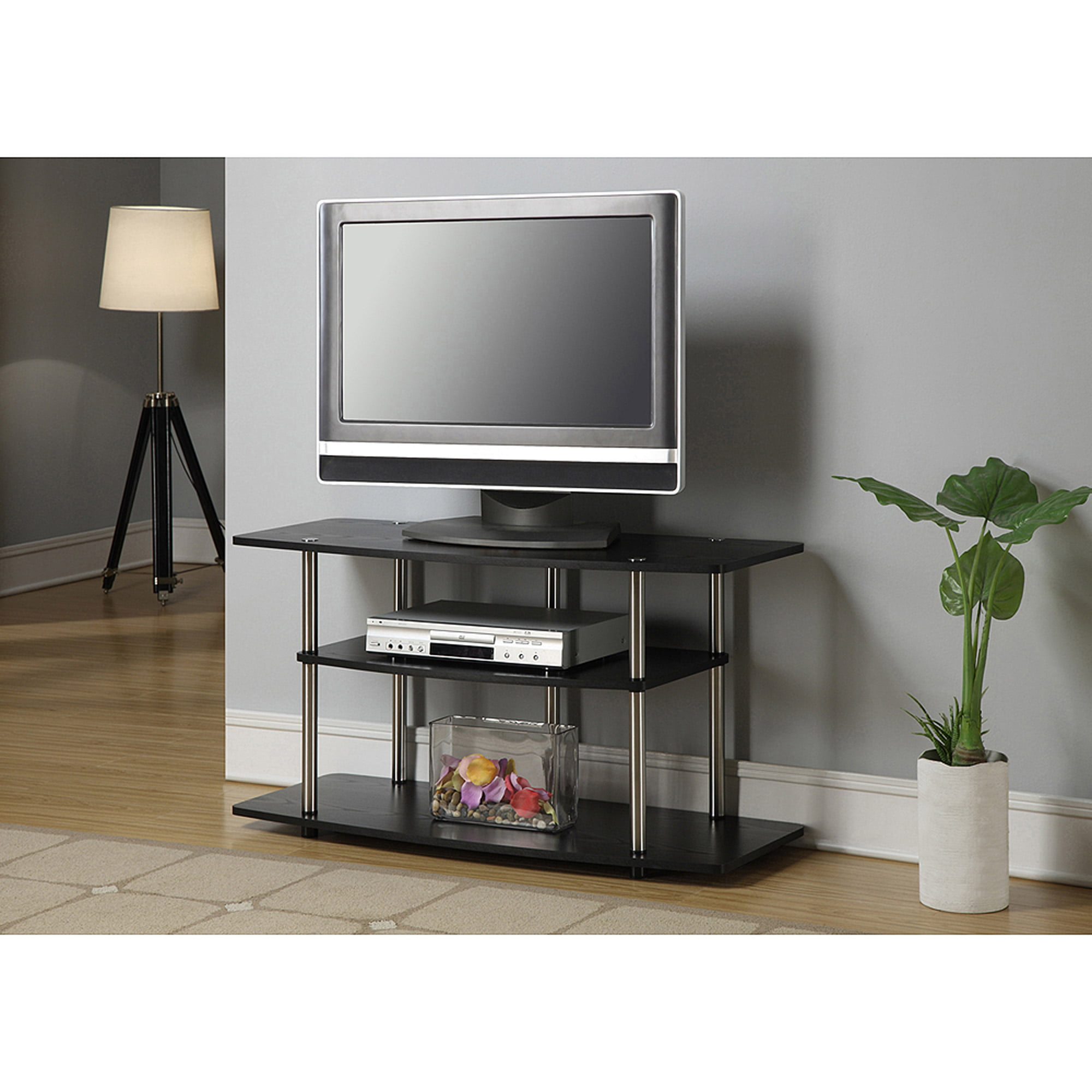 Convenience Concepts Designs2Go No Tools 3 Tier Wide TV Stand, Multiple  Colors   Walmart.com
