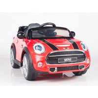 Exclusive Licensed Convertible Cooper 12v Ride on Car, Toy for Kids with Remote Control, Music, Lights, Leather Seat