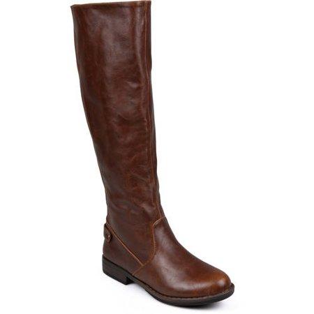 423ac0e4d946 Brinley Co. - Women s Wide Calf Stretch Knee-High Riding Boot - Walmart.com