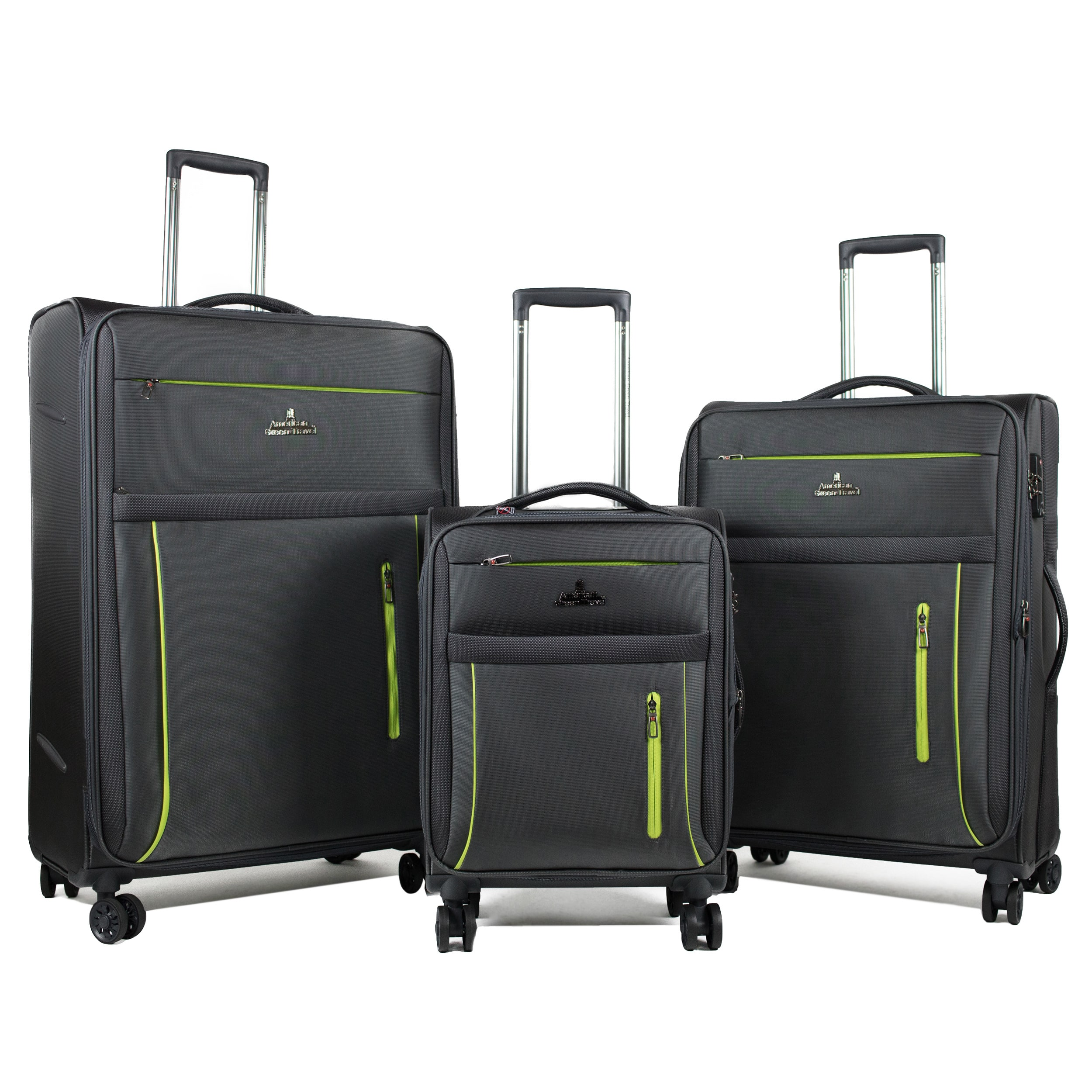 American Green Travel  Soteria 3-Piece Lightweight Spinner Expandable Luggage Set