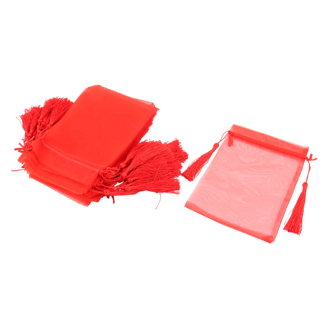 Candy Jewelry Pouch Wedding Favor Organza Gift Bag 13 x 18cm 25 Pcs