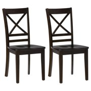 Jofran Roasted Java Cross Back Dining Chair - Set of 2