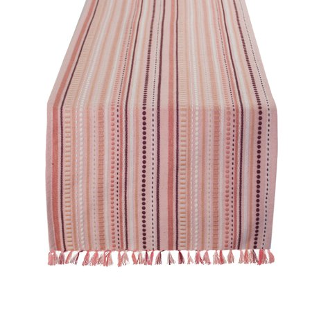 Classic Styled Lines (Fennco Styles Classic Stitched Lines Table Linen Collections for Home Decor, Holidays and Events, 2 Colors (Salmon, 13'' x 72'' Table)