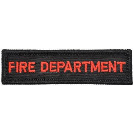 Fire Department - 1x3.75 Morale Patch - Walmart.com 31ab708010b