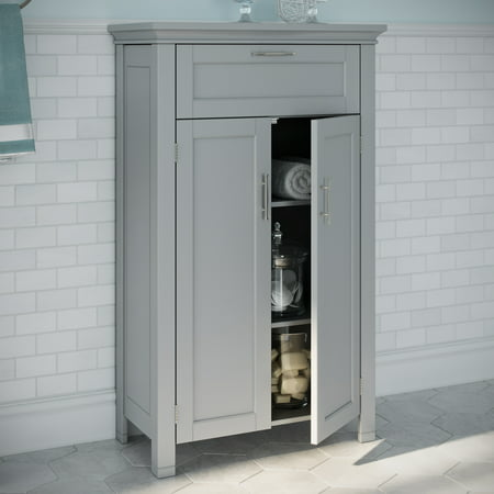 Super Riverridge Somerset Collection 2 Door Floor Cabinet Gray Home Interior And Landscaping Staixmapetitesourisinfo