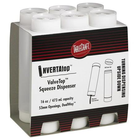 - TableCraft C16SV Invertatop 16 Ounce Squeeze Dispenser - 6 / PK