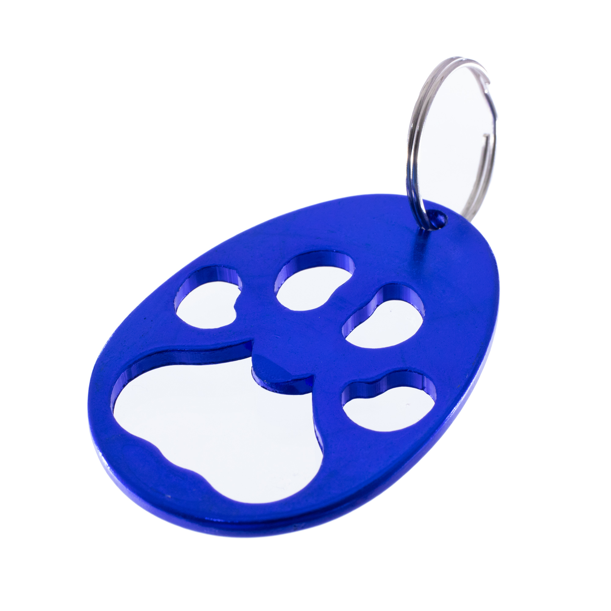 and 10 Red Blue Purple West Coast Paracord Paw Print Metal Keychain and Bottle Opener with Split Ring Gold and Silver Green Colors Include Black Packs of 1 2 5