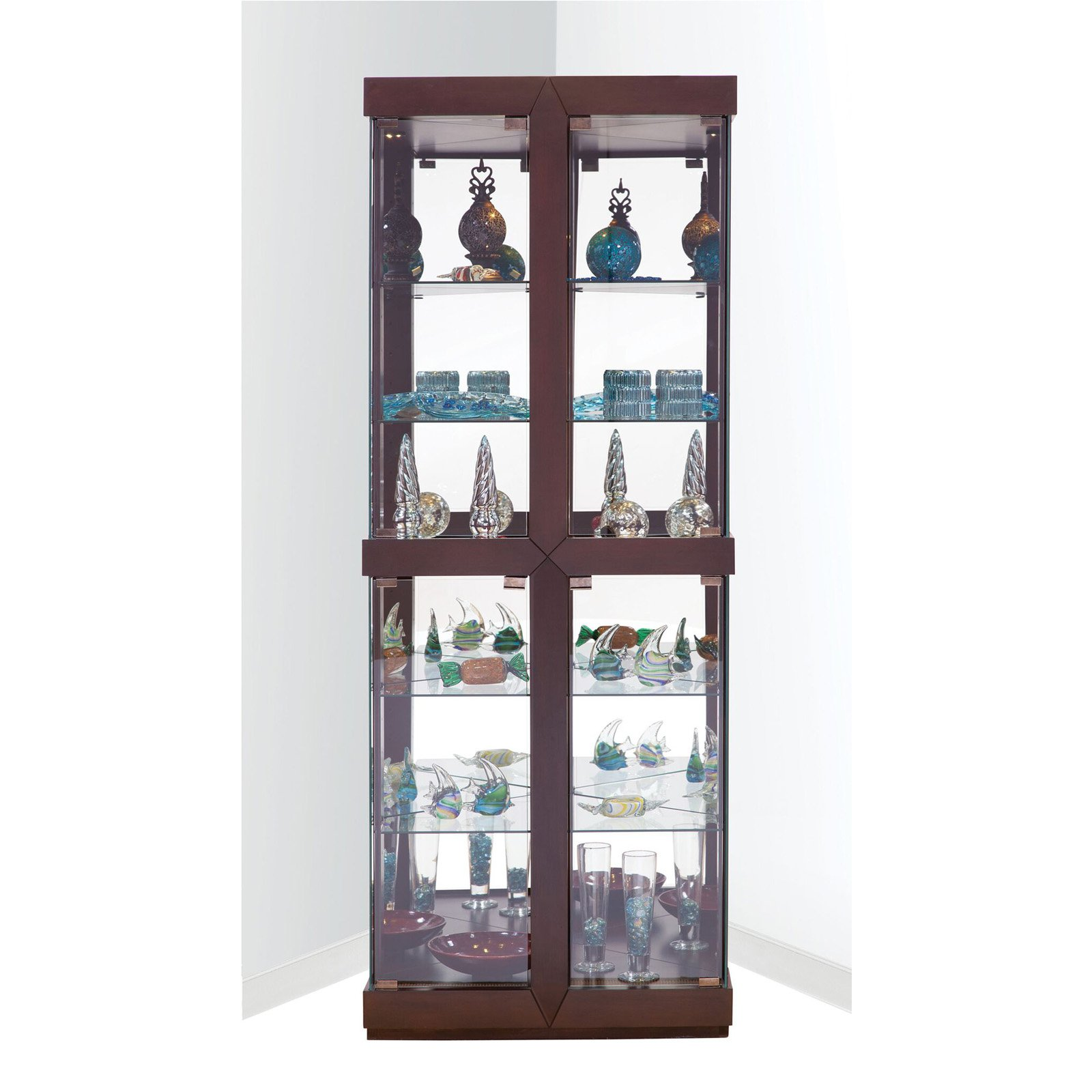 Philip Reinisch Co. Rohe I Corner Curio Cabinet