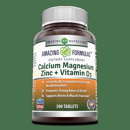 Amazing Formulas Calcium Magnesium Zinc 300 Vitamin D3 -