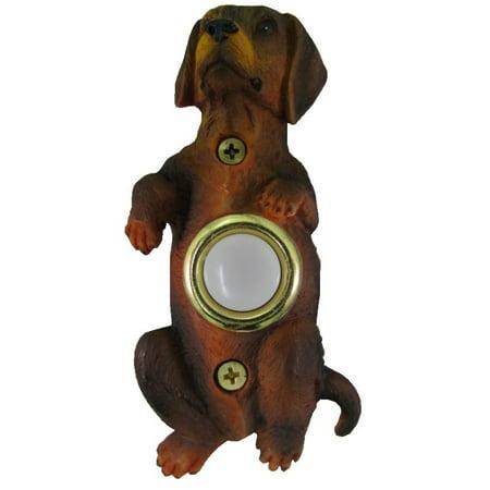 Waterwood Painted Dachshund Begging Doorbell