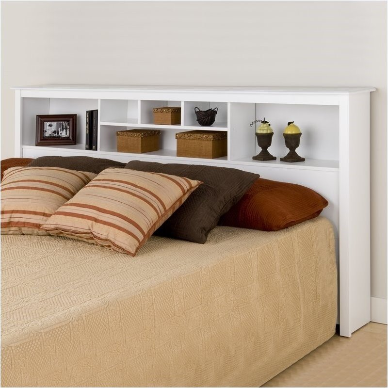 Bowery Hill King Bookcase Headboard in White