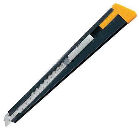 Utility Knife,5 1/2 In,Black/Yellow OLFA 180MP