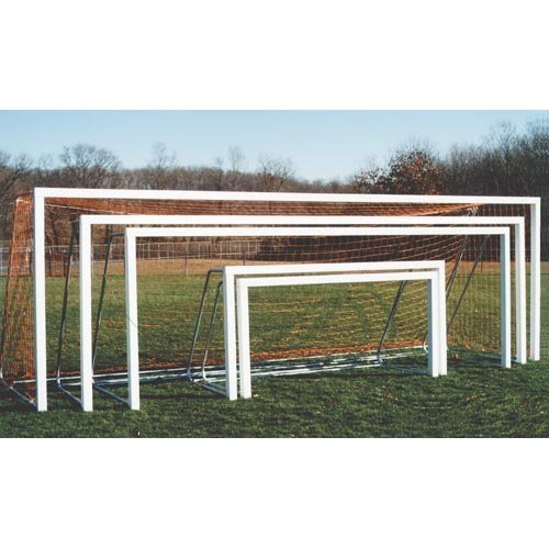 Goal Sporting Goods Square Post Aluminum Official Soccer Goals - Pair