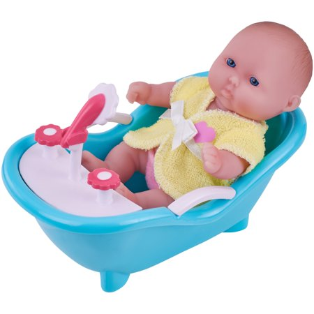 "My Sweet Love Lots to Love 5"" Baby Doll with Outfit and Mini Bathtub"
