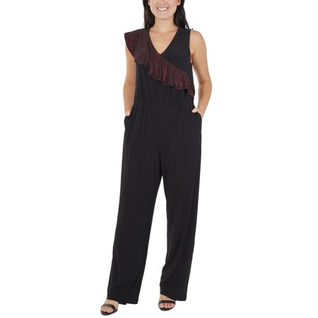 Women's Sleeveless Ruffle Sash (70's Women's Jumpsuits)