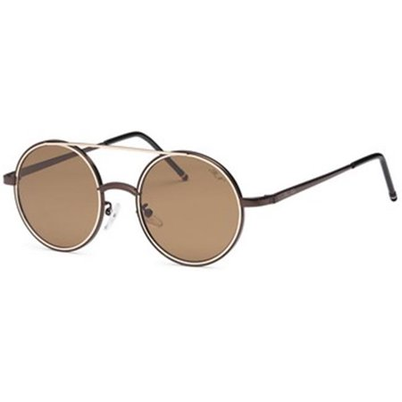34cf003a751 Punk Rock Round Style Sunglasses  44  Brown