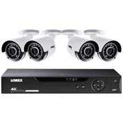 Lorex LHV51081T4KB 8-Channel 4K HD 1TB DVR with 4 4K Bullet Security Cameras
