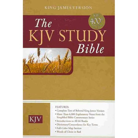 Holy Bible  King James Version Burgundy Genuine Bonded Leather Study Bible