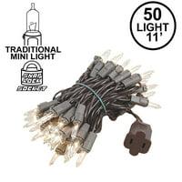 Novelty Lights 50 Light Clear Christmas Mini Light Set, 11' Long