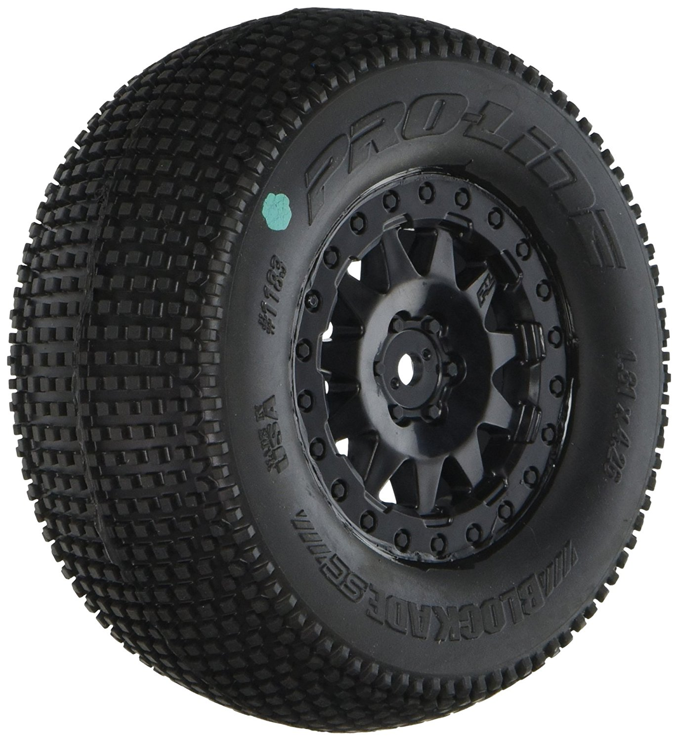 118325 Blockade SC 2.2/3.0 M3 Soft Tires On F-11 Wheels for SCTE4X4SC10Rs 2Wd/SC10 4X4, Black, Revolutionary long lasting tread pattern generates exceptional.., By PROLINE