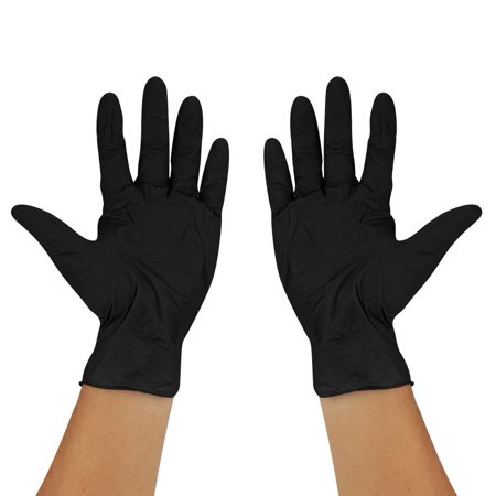 Image of WALFRONT 200PCS Powder-Free Disposable Medical Exam Industrial Latex Nitrile Gloves,Nitrile Gloves, Powder-Free Disposable Nitrile Gloves