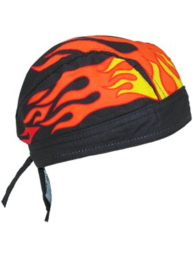 1da96a765a263 Product Image Size one size Men s Cotton Lined Flames Do Rag Cap