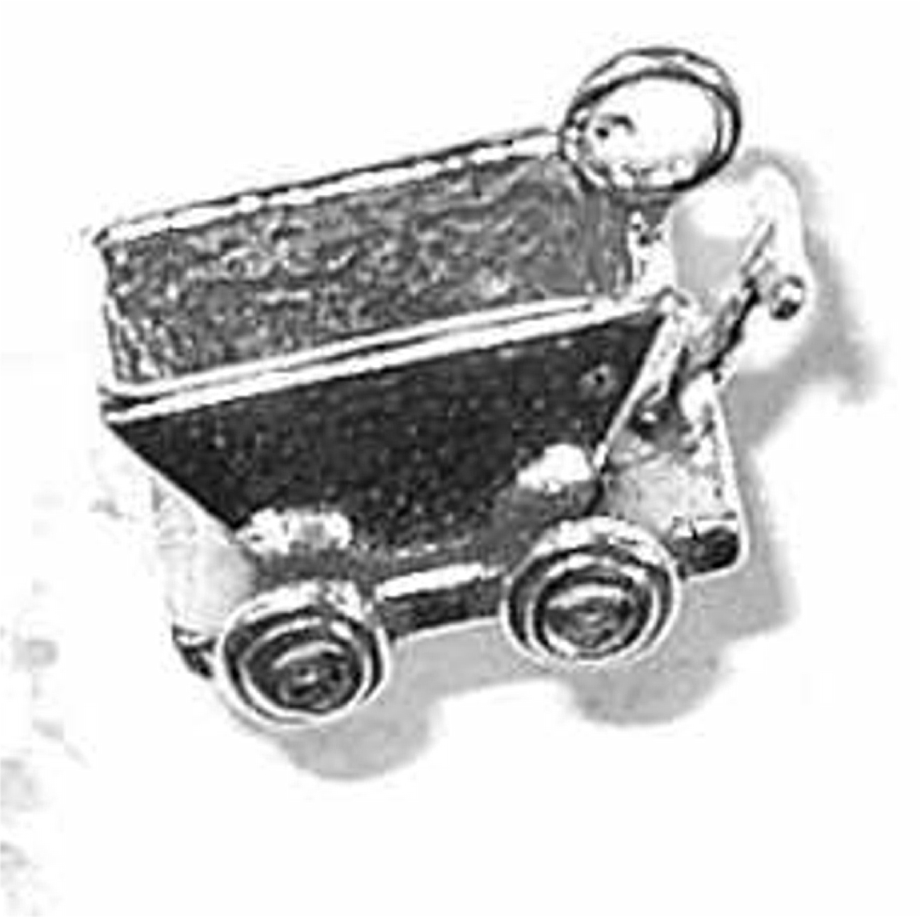 Sterling Silver 7 4.5mm Charm Bracelet With Attached 3D School Bus Charm