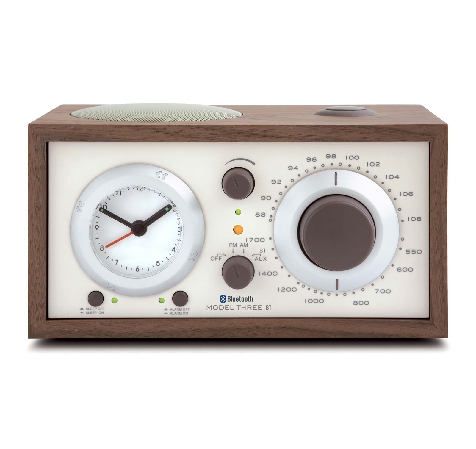 Tivoli Audio Model Three BT Walnut Beige AM FM Clock Radio with Bluetooth by Tivoli
