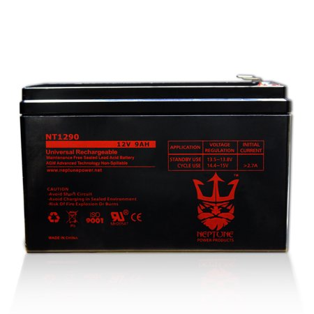ExpertPower EXP1290 12 Volt 9 Amp Rechargeable battery by Neptune