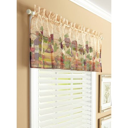 Better Homes And Gardens Tuscan Wine 56 Country Valance