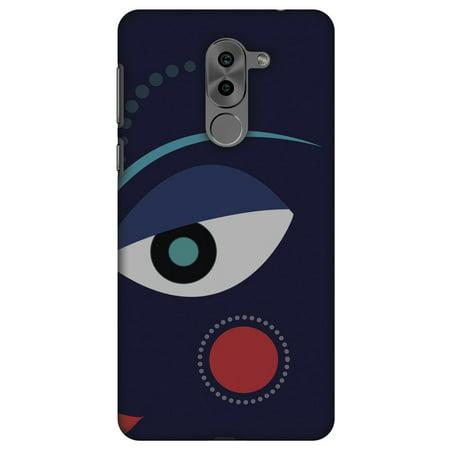 Huawei Mate 9 Lite Case, Premium Handcrafted Printed Designer Hard ShockProof Case Back Cover for Huawei Mate 9 Lite - Divine Goddess - Blue - Goddess Blue