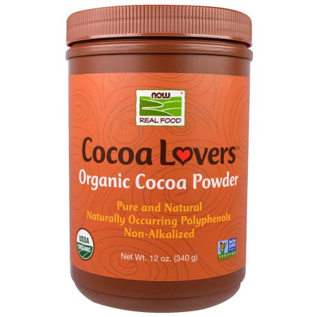 Now Foods, Real Food, Cocoa Lovers, Organic Cocoa Powder, 12 oz(pack of -