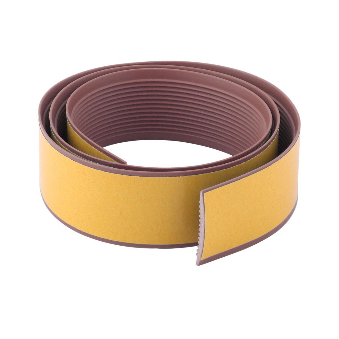 Indoor Stairs Step Floor PVC Stripe Design Anti Skid Tape Coffee Color 3.3 Ft