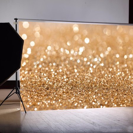 7x5ft Studio Photo Video Photography Backdrops Brown Bokeh Printed Vinyl Fabric Party Decorations Background Screen - Backdrop Fabric