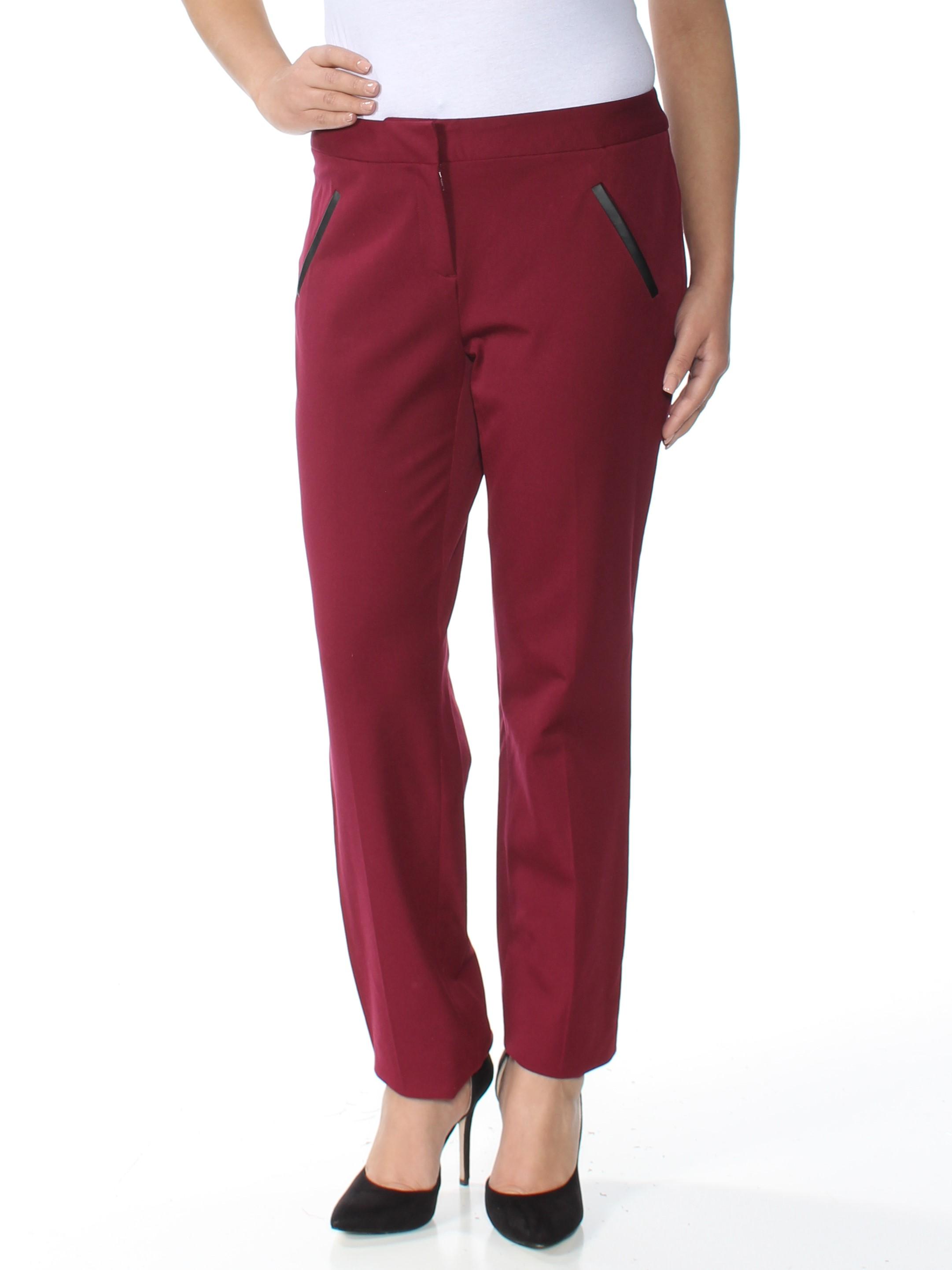 ALFANI Womens Maroon Straight leg Pants  Size: 6