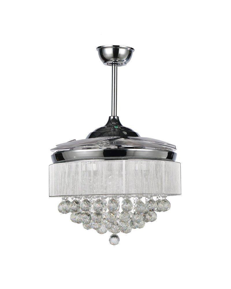 """Chandelier Fan: Ceiling Fans With Lights 42"""" Modern LED Ceiling Fan"""
