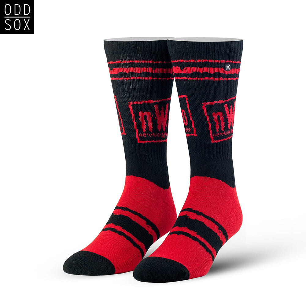 Official Wwe Authentic Nwo Wolfpac Odd Sox Black