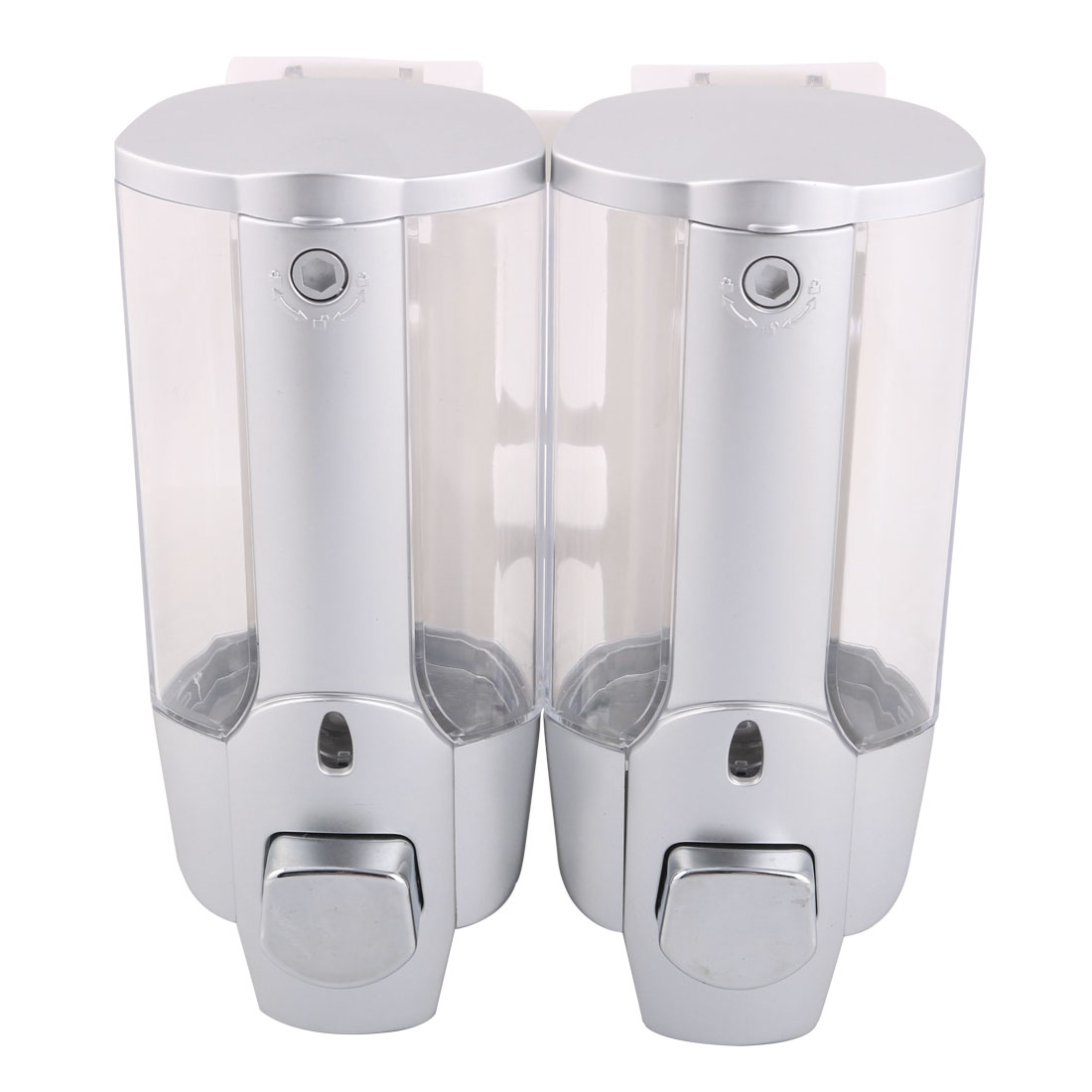unique bargains home hotel plastic wall mounted locked touch soap shampoo shower gel dispenser storage container - Wall Mounted Soap Dispenser