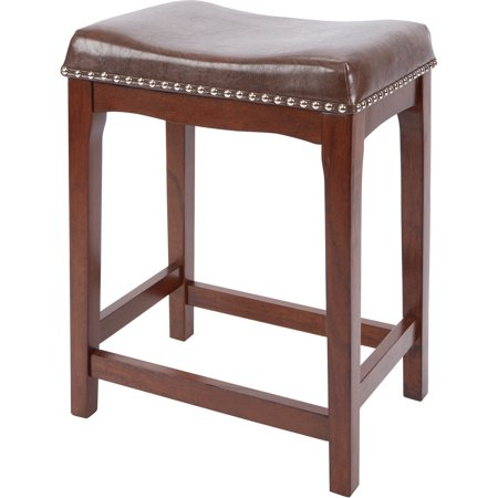 Western Leather Bar Stools - Better Homes & Gardens Wayne 24