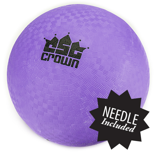 "Purple Dodge Ball 8.5"" with Needle"